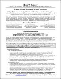 Investment Banking Resume Sample by Not Crazy About The Design But Like How It U0027s Broken Into Various