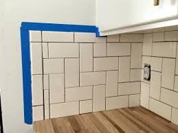 straight herringbone tile backsplash tutorial create enjoy