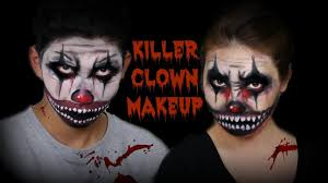 siblings killer clown makeup face painting halloween makeup