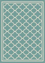 Area Rug Aqua Garden City By Tayse Indoor Outdoor Area Rug Tangier Gct1009 Aqua