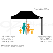 3x6m gazebo outdoor pop up tent folding marquee party wedding
