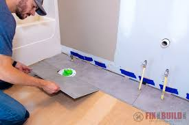 is vinyl flooring for a bathroom how to install vinyl plank flooring in a bathroom
