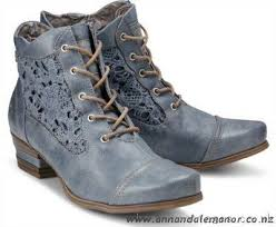 womens boots zealand less expensive mustang lace up ankle boots blue light rxfw