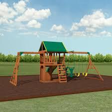 backyard discovery slide prairie ridge wooden swing set