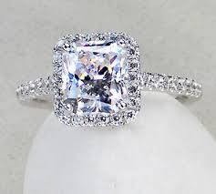 diamond marriage rings images Nice quality 3ct cushion cut simulate diamond marriage ring jpg