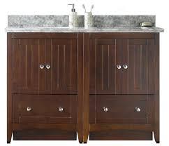 47 5 in w floor mount walnut vanity set for 3h4 in drilling