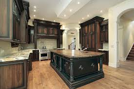 staining kitchen cabinets before and after dark stained kitchen cabinets donatz info