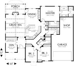 building plans for houses rambler house plans with basements craftsman corner lot scroll