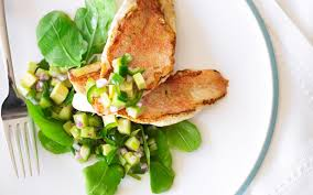grilled fish with cucumber and celery salad recipe food to love
