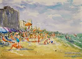 myrtle beach sc plein air watercolor paintings by raleigh fine