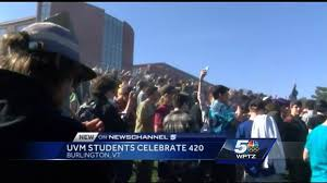 two different ways uvm students celebrated 4 20