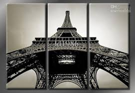2018 eiffel tower framed 3ps huge hand painted modern city views