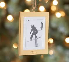 2015 dated gold frame ornament pottery barn