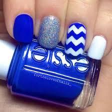 blue and white nail art nail art pinterest white nail art