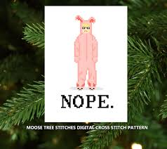 bunny suit ralphie nope digital cross stitch