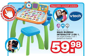 maxi bureau maxi toys promotion magi bureau interactif 3 en 1 vtech