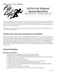 sponsorship proposal cover letter gallery cover letter sample