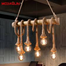 Hanging Light Fixtures From Ceiling 2017 Sale Vintage Rope Hemp Pendant Lights Fixtures Home Deco