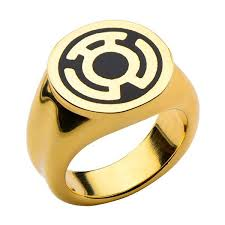 green lantern wedding ring green lantern sinestro gold tone ring