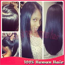 b4 u0026 after full head sew in weave with natural part www
