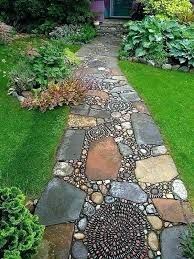Walkway Garden Ideas Garden Path Stones Stepping Walkway Ideas Garden Path
