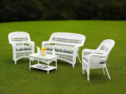 Cushions For Wicker Patio Furniture by Outdoor U0026 Garden Elegant Brown Wicker Patio Furniture Set With