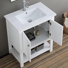 Vanity Set Bathroom Fresca Cambria Manchester Single Bathroom Vanity Set Reviews