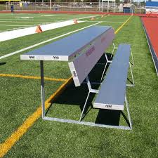 Portable Sports Bench Portable Team Bench With Shelf