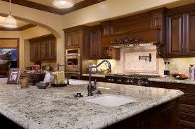 Kitchen Countertop Materials by Adorable Design Ideas Using Cream Motif Loose Curtains And