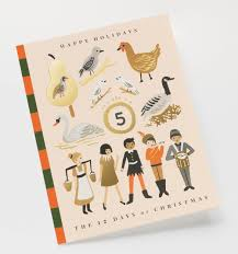 12 days of story greeting card by rifle paper co made