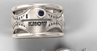Star Wars Wedding Rings by My Life As A Zombie Star Wars Wedding Rings