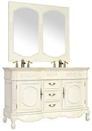 56 Bathroom Vanity Double Sink by 56in Jenna Double Vanity Cherry Double Vanity Antique White Vanity