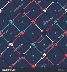 halloween web backgrounds cartoon halloween party skull seamless flat stock vector 218416036