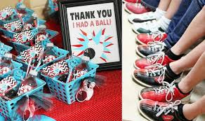 Diy Bowling Favors by Bowling Birthday Guest Feature Celebrations At Home