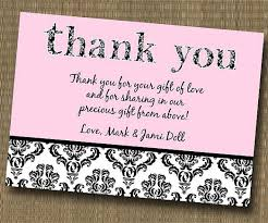 Bridal Shower Greeting Wording Damask Shabby Chic Thank You Card Baby Shower Bridal Shower