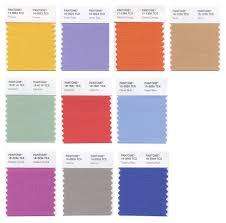 Color Palette Pantone Unconventional Color Palette For Spring 2014 Threads