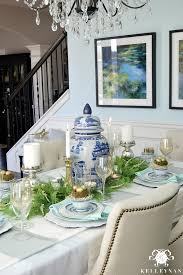 Easter Dining Room Decorating Ideas by Blue And White Easter Table Kelley Nan