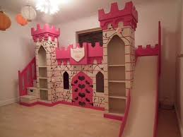 Princess Castle Bunk Bed Adorable The Princess Castle Bunk Bed With Slide And Bookshelves