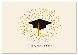 graduation thank you card free ideas graduation thank you card template