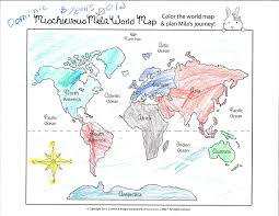 World Map Coloring Page Adventures Of Mila Discover And Learn From The Adventures Of