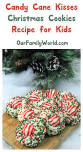 christmas recipe for kids peppermint kisses cookies