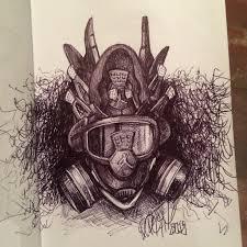 thunder iv gas mask daily sketch 3 u2013 the blog freehandprofit com