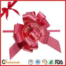 satin ribbon pull bows for wedding car ribbon factory shs