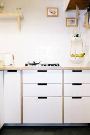 formica faced plywood kitchen using ikea base units and plykea