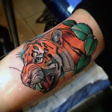 collection of 25 tiger designs on biceps