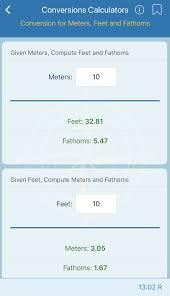 5 meters to feet conversions calculators