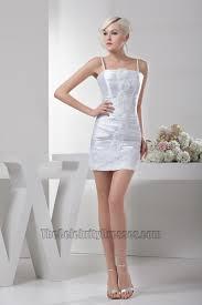 white short mini spaghetti strap party cocktail dresses