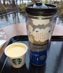 cherry blossoms and orange chocolate only at japanese starbucks