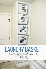 diy laundry basket organizer built in make it and love it mud rooms