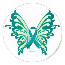 green cancer ribbon butterfly tattoo design in 2017 real photo